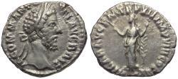 Ancient Coins - Commodus (AD 177-192) AR Denarius / Hilaritas