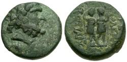 Ancient Coins - Coele-Syria. Chalkis ad Libanon. Ptolemaios as Tetrarch Æ17 / Dioscuri