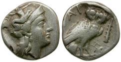 Ancient Coins - Calabria. Taras AR Drachm / Owl