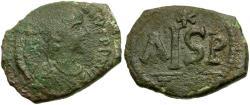 Ancient Coins - *Sear 178* Byzantine Empire. Justinian I Æ 16 Nummi