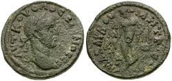 Ancient Coins - Volusian. Cilicia. Anazarbus Æ22 / Apollo