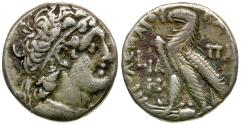 Ancient Coins - Ptolemaic Kings of Egypt. Ptolemy X Alexander I (107-88 BC) with Cleopatra III AR Tetradrachm