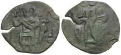 Ancient Coins - *Sear 2035* Byzantine Empire. Latin Rulers of Constantinople Æ Trachy