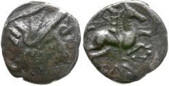 Ancient Coins - Ancient France. Celtic Gaul. Allobroges Tribe AR Quinarius