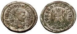 Ancient Coins - EF/VF Diocletian Silvered Antoninianus / Emperor and Jupiter