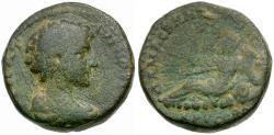 Ancient Coins - Marcus Aurelius as Caesar. Coele. Damascus Æ17 / River God