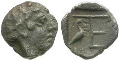 Ancient Coins - Ionia. Kolophon AR Tetartemorion / Stork