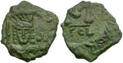 Ancient Coins - *Sear 1302* Byzantine Empire. Justinian II. First Reign Æ Follis