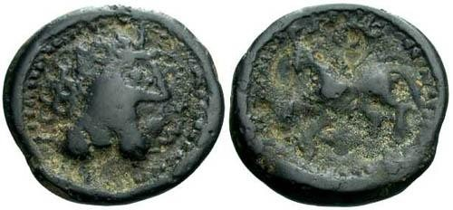Ancient Coins - VF/gF Suessions Tribe Potin / Horse
