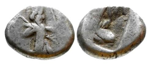 Ancient Coins - VF/VF Persian Achemenid Period AR Siglos