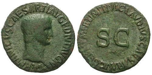 Ancient Coins - gF/gF Germanicus AS / SC
