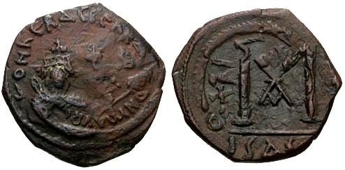 Ancient Coins - EF/EF Heraclius AE Follis RRR Isaura Mint BIZARRE AND BEAUTIFUL