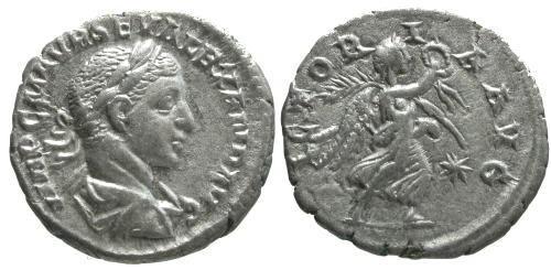 Ancient Coins - aEF/VF Severus Alexander AR den