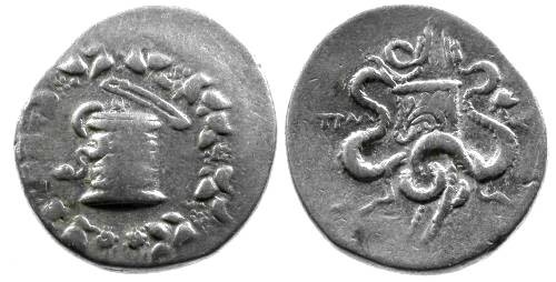 Ancient Coins - aVF/aVF Lydia Tralles AR Cistophoric Tetradrachm