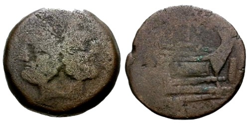 Ancient Coins - F/F Roman Republic AE As / PT