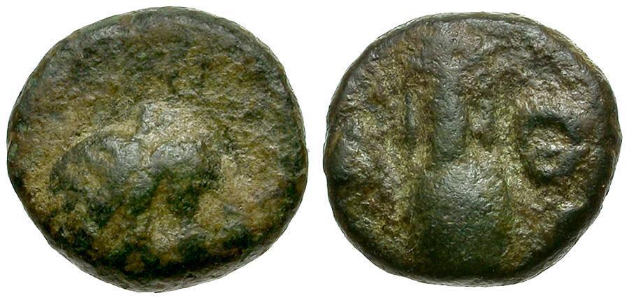 Ancient Coins - Attica. Athenian Cleruchs on Delos Æ / Amphora