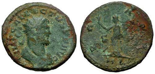 Ancient Coins - gF+/gF+ Allectus Æ Antoninianus / Pax