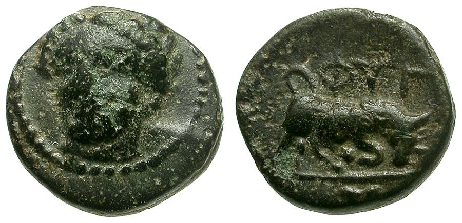 Ancient Coins - Ionia. Phygela Æ8 / Nymph