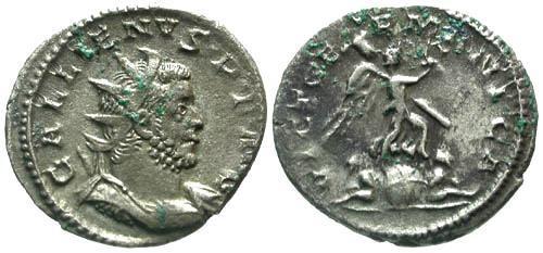 Ancient Coins - VF/VF Gallienus Joint Reign AR Antoninianus / VICT GERMANIA