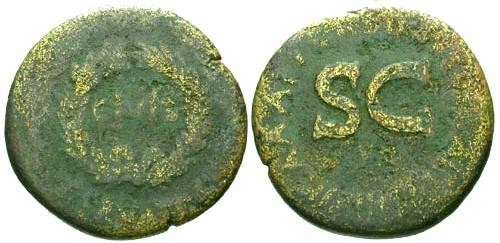 Ancient Coins - aF/aF Augustus Sestertius / SC