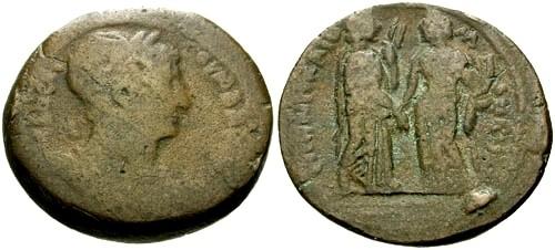 Ancient Coins - F/F Trajan Egypt Alexandria AE Drachm / Homonoia and Eirene