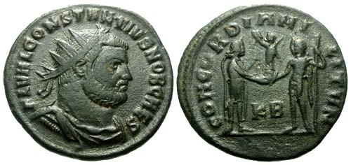 Ancient Coins - VF/aVF Constantius I as Caesar Post Reform Radiate Fractional / Concordia
