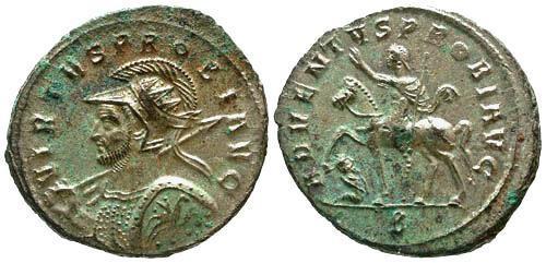Ancient Coins - EF/EF Probus AE Antoninianus / Probus on Horseback
