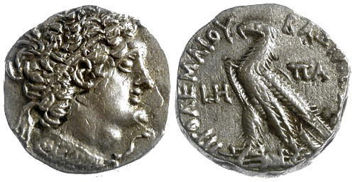 Ancient Coins - EF/EF Egypt Ptolemy VI AR Tetradrachm