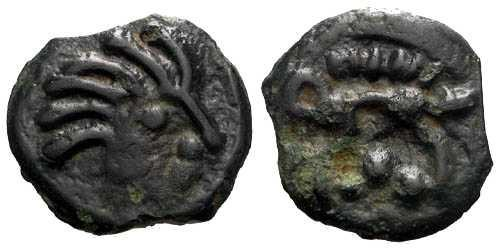 Ancient Coins - EF/aEF Senones Tribe Potin / Boar