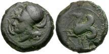 Ancient Coins - Sicily. Syracuse. Dionysos I Æ Litra / Hippocamp