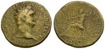 Domitian Æ Sestertius / Jupiter