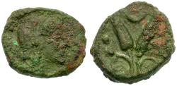 Ancient Coins - Sicily. Uncertain Æ13 / Grain Ears