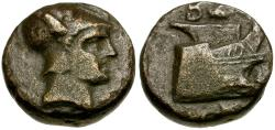Ancient Coins - Kings of Macedon. Demetrios I Polorketes Æ 1/2 Unit / Prow