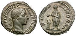 Ancient Coins - Severus Alexander (AD 222-235) AR Denarius / Emperor Sacrificing