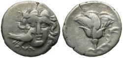 Ancient Coins - Caria. Mylasa AR Drachm / Rose