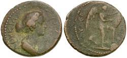 Ancient Coins - Lucilla (AD 164-182). Lycaonia. Derbe Æ21 / Nike