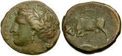 Ancient Coins - Sicily. Syracuse. Agathokles Æ21 / Bull