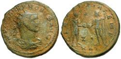 Ancient Coins - Probus Æ Antoninianus / Emperor receiving Victory from Jupiter