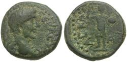 Ancient Coins - Trajan (AD 98-117). Judaea. Askelon Æ19 / Phanebal