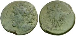 Ancient Coins - Sicily. Mamertinoi Æ Pentonkion / Horseman