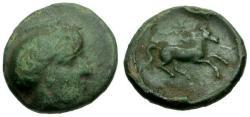 Ancient Coins - gF+/gVF Peloponnesos, Arkadia Kleitor Æ Chalkous / Athena / Horse