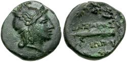 Ancient Coins - Kings of Macedon. Philip V Æ15 / Harpa