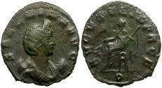 Ancient Coins - Salonina Æ Antoninianus / AVGVSTA IN PACE