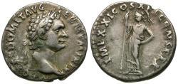Ancient Coins - Domitian (AD 81-96) AR Denarius / Minerva