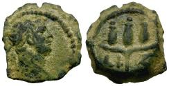 Ancient Coins - Trajan. Egypt. Alexandria Æ Dichalkon / Crown of Harpocrates
