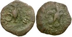 Ancient Coins - Spain. Carthago Nova. Time of Augustus Æ21 / Eagle and Priestly Implements