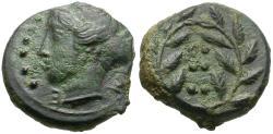 Ancient Coins - Sicily. Himera Æ Hemilitron / Nymph