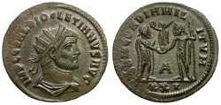 Ancient Coins - Diocletian Æ Post-reform Radiate