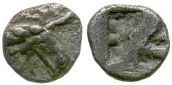 Ancient Coins - Ionia. Phokaia AR Hemiobol or Trihemiobol / Griffin