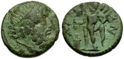 Ancient Coins - Thrace.  Ainos Æ21 / Poseidon / Hermes